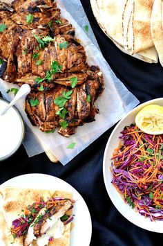 Chicken Shawarma by recipetineats: handful of common spices to make this incredibly aromatic chicken. 5 minutes to prepare, whether for 4 or 40 people. Turkey Recipes, Chicken Recipes, Dinner Recipes, Recipe Chicken, Drink Recipes, Lebanese Recipes, Indian Food Recipes, Recipetin Eats, Eastern Cuisine