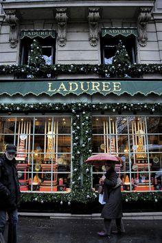Ladurée Christmas, Paris, France.