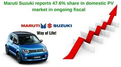 Maruti Suzuki reports 47.6% share in domestic PV market in ongoing fiscal The biggest car market leader, Maruti Suzuki has reported 47.6 percent market share in the domestic passenger vehicle market in the ongoing fiscal. During the period from April'16 to February'17, the company sold 13,15,946 units of the passenger vehicles.