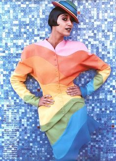 Be colorful.  Xk #kellywearstler Looks like something from the Capitol from the Hunger Games lol