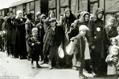 Evil Nazis boarded Jews in Poland on to trains headed for death camps in WW 2  NEVER FORGET!