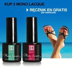 PROMOCJA: kup dwa Mono Lacque - dostaniesz ręcznik do manicure gratis! Promocja trwa do 30 czerwca.
