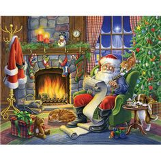 """Naughty or Nice"" ~ Picture Puzzle Box Cover from Vermont Christmas Company"