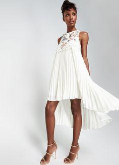 Sachin & Babi Noir Embroidered-Front Sleeveless Cocktail Dress, Ivory