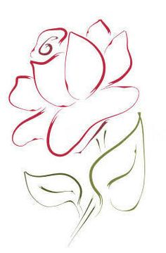Learn To Draw A Realistic Rose - Drawing On Demand Doodle Drawings, Art Drawings Sketches, Doodle Art, Easy Drawings, Watercolor Flowers, Watercolor Art, Love Symbol Tattoos, Plant Drawing, Drawing Drawing