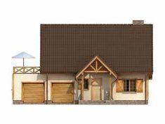 Projekt domu Kawka 3 - elewacje Case, Log Homes, Home Fashion, House Styles, Home Decor, Timber Homes, Homemade Home Decor, Log Houses, Interior Design