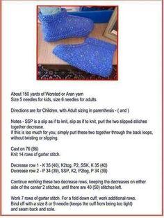 Just sharing ( knitting ) SL Beginner Knitting Patterns, Knitting Paterns, Easy Knitting, Knitting Stitches, Knitting Socks, Crocheting Patterns, Knit Slippers Free Pattern, Baby Booties Knitting Pattern, Knitted Slippers