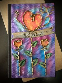 Personalized Journal Polymer Clay Covered Journal by LunaBlueGifts