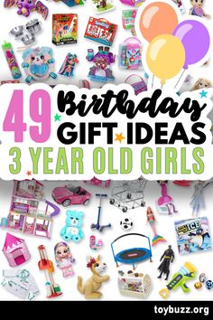 These 50+ Birthday Gifts for 3 Year Old Girls are gonna be amazing for our kids' birthday parties!! I can't believe you can see all of the coolest gifts for 3 year olds birthdays all in one place. 50 Birthday, 50th Birthday Gifts, Birthday Gifts For Women, Birthday Parties, Gifts For 3 Year Old Girls, Milestone Birthdays, Cool Toys, Cool Gifts, Special Day