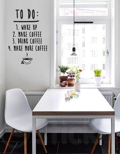 Beautiful White Apartment in Sweden Dining Room Inspiration, Interior Design Inspiration, Home Decor Inspiration, Small Dining, Dining Area, Home Interior, Kitchen Interior, Nordic Interior, Eames Style Dining Chair
