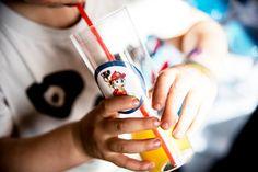 juice glass with paw patrol