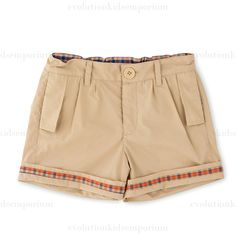 Fore N Birdie Khaki Rolled Cuff Shorts: Designer Kids Clothes | Shop our Boutique for Cool Children's Clothing