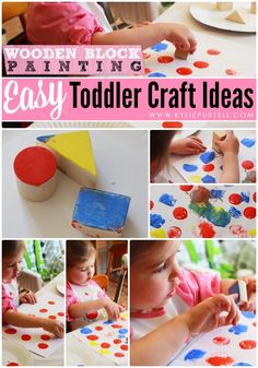 Easy Toddler Craft Ideas: Block Painting | For the Kids