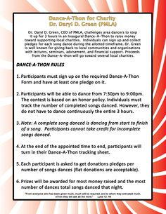Dance a thon pledge form dr greens dance a thon book signing dance a thon contest rules pronofoot35fo Images
