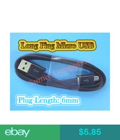 3ea1e911f4c Cables & Adapters Long Plug Micro Usb Cable Data Sync Charge Cord For  Samsung Galaxy