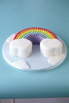 Colourful buttercream rainbow
