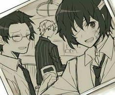 Oda, Dazai, and Ango