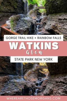 Watkins Glen in New York's Finger Lakes is one of the most beautiful US state parks. Find everything you need to know about planning a visit here, from hiking the stunning gorge trail, photography tips for rainbow falls, parking and entry, where to stay nearby and much more. #watkinsglen #stateparks #newyork #fingerlakes #gorgetrail Hiking Photography, Photography Guide, Autumn Photography, New York Travel, Travel Usa, Watkins Glen State Park, Rainbow Falls, Us Travel Destinations, Best Travel Guides