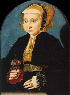 Barthel Bruyn - Portrait of a Woman 1539 Oil on panel, 35 x 26 cm Museo Thyssen-Bornemisza, Madrid Die Renaissance, Renaissance Kunst, Renaissance Portraits, Renaissance Clothing, Medieval Paintings, Renaissance Paintings, Luther, Anne Of Cleves, Landsknecht