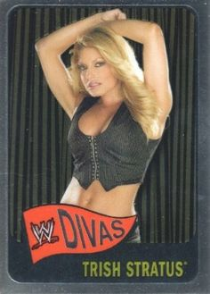 2006 Topps Heritage Chrome WWE Wrestling #60 Trish Stratus Trading Card by Topps Heritage. $5.00 Wrestling Stars, Wrestling Divas, Women's Wrestling, Wwe Girls, Wwe Ladies, Wwe Trish, Wrestlemania 29, Trish Stratus, Wwe Female Wrestlers