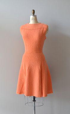1950s boucle knit dress