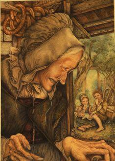 La Madre Buona (archetipo) può essere ascritta a un Io infantile e risultare tipica di una situazione negativa di sviluppo. L'esempio valido di ciò è la strega della fiaba di Hansel e Gretel dei Grimm, la cui casetta è fatta sul davanti di marzapane e canditi, mentre nella realtà lei è una divoratrice di bambini.   [I due caratteri del femminile, la grande madre, Erich Neumann]