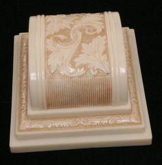 Vintage ART DECO Celluloid Ring Box ~ Scrolly~ Chambersburg PA Adv