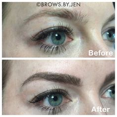 Have you heard of microblading? It's different than tattooing brows because with a microblade, the strokes of ink look like hair. Plus, it only lasts about a year -- so not so permanent!