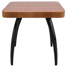 Model H 259 Art Deco Side Table in Wood by J. Halabala for Spojene UP Zavody | 1stdibs.com