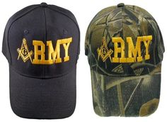 US ARMY Quality Masonic Embroidered Military Baseball Cap. Masonic emblem.  Cool hat to wear 1d2c71af4d8e