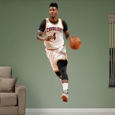 Iman Shumpert REAL.BIG. Fathead – Peel & Stick Wall Graphic | Cleveland Cavaliers Wall Decal | Sports Home Decor
