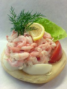 Shrimp Sandwich!!   you even eat the peel. no lie. freshest shrimp, mild warm just right boiled egg, scandi-mayonnaise,  Lemon on top. LOVE this. Tomato is new though. Not necessary.