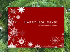 New Design!  Holiday Card  Snowflakes by JLOriginalDesigns on Etsy, $10.00