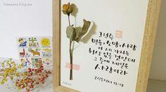 캘리그라피 드라이플라워 액자에요 : )  #캘리 #캘리그라피 #드라이플라워 #액자 #펜글씨 #붓펜 #붓펜글씨 #쿠레타케 #리효 #손글씨 #성경구절 #Calligraphy #calli #brush #pen #dryflower #natural #frame #bible #verse #2eehyo #korean