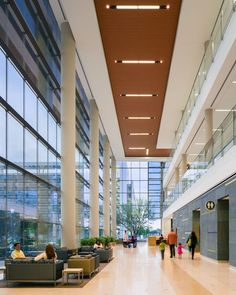 """Prospect-refuge high ceilings - prospect able to seek """"safety"""" bathrooms and balcony Parkland Hospital Healthcare Architecture, Healthcare Design, Architecture Design, Amazing Architecture, Atrium Design, Lobby Design, Parkland Hospital, Restaurant Hotel, Modern Hospital"""