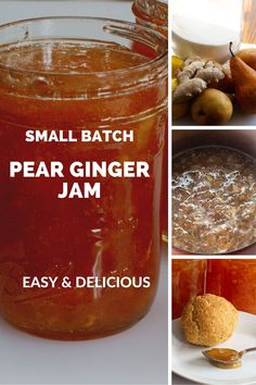 Easy & delicious, small batch pear ginger jam. No canning skills required and takes just the time to cook down the 4 ingredients. Jam Recipes, Cooking Recipes, Ginger Jam, Half And Half Recipes, Jam And Jelly, How To Double A Recipe, 4 Ingredients, Recipe Using, Chutney
