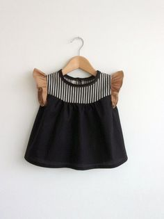 girls' cotton blouse with striped detail by swallowsreturn on Etsy