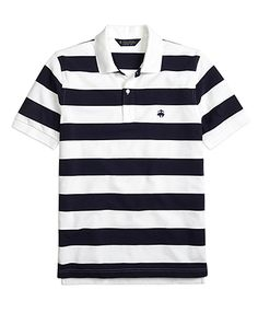 White-Navy polo. Brooks Brothers