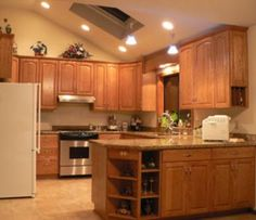 Staggered Height Cabinets In Sloped Ceiling Kitchens