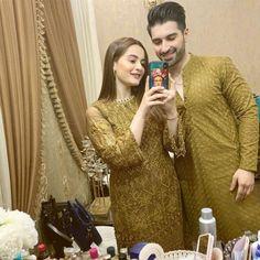 Aiman and Muneeb.Aiman and Muneeb. Beautiful Pakistani Dresses, Pakistani Formal Dresses, Pakistani Dress Design, Pakistani Outfits, Pakistani Clothing, Stylish Dresses For Girls, Stylish Girls Photos, Simple Dresses, Bridal Mehndi Dresses