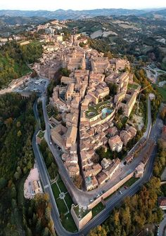 Urbino, Italy. An amazing aerial shot of what has to be an amazing town.