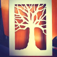 My newest cut canvas art. Love doing trees, this one Oak.