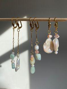Ear Jewelry, Bead Jewellery, Dainty Jewelry, Cute Jewelry, Beaded Jewelry, Jewelry Accessories, Jewelry Design, Jewelry Making, Handmade Wire Jewelry
