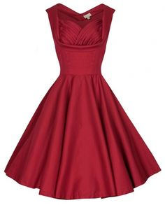 Red Vintage 1950s Evening / Prom Dress