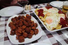 Comiendo en el Pibe Santander