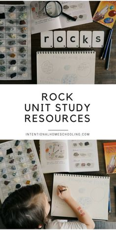 Rocks Mini Unit Study Resources Homeschool - plus relaxed notebooking page!