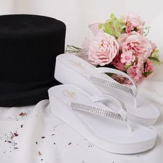 Our Luna Wedding Sandal....Great for the Bridesmaid and all female guest as a favour!