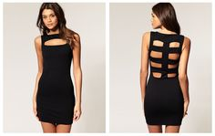 Black Bodycon Dress Outfit | Fashion Collages | Pinterest