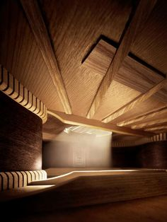 Inside an acoustic guitar