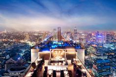 Reaching for the clouds at Vertigo and Moon Bar on the 61st floor of the Banyan Tree hotel is one of the best ways to end a long day in Bangkok. There is no lack of rooftop bars in town but Vertigo has always been amongst the favourites. With